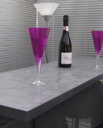 AvantGarde-Hi-Gloss-Atnthracite-Grey-with-Steel-Swirl-Bar-Top