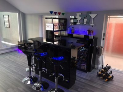 Home Bar Company Gloss Black Bar